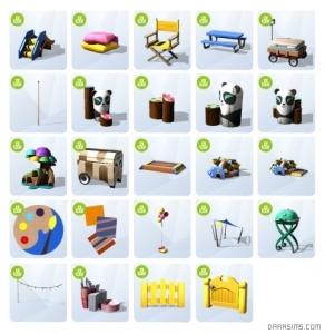 Детские объекты, игрушки и мебель