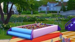Бассейн с шариками в Симс 4 Детские вещи