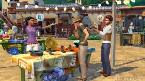 рынок в The Sims 4 Приключения в джунглях