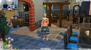 Сим танцует сальсу