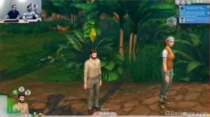 симы в джунглях