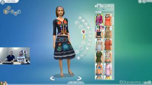 платье для симок в the sims 4 приключениях в джунглях