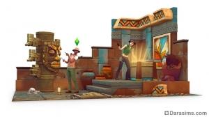 рендер The Sims 4 Приключения в джунглях