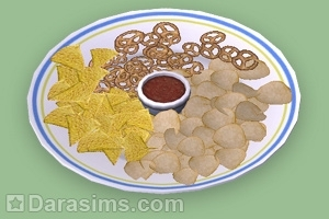 Тарелка с чипсами