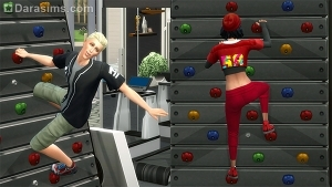 Скалодром в Симс 4 Фитнес