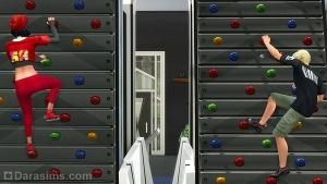 Скалодром в The Sims 4 Фитнес