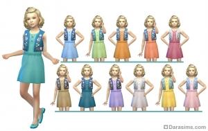 Детское платье для девочек в CAS