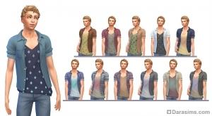 Мужская рубашка с футболкой