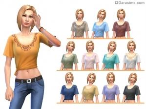 Женская одежда из Sims 4 Laundry day