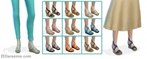 Женская обувь в каталоге (танкетки)