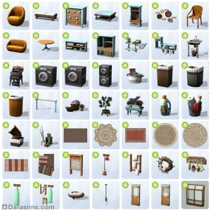 Обзор каталога «The Sims 4 День стирки»