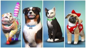 Питомцы в The Sims 4 Кошки и собаки