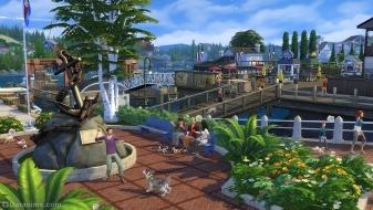 Город Бриндлтон Бэй в The Sims 4 Кошки и собаки