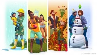 Разные сезоны в The Sims 4 Времена года