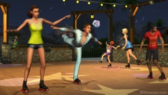 Катание на роликовых коньках в The Sims 4 Времена года
