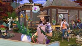 Флорист в саду в дополнении The Sims 4 Времена года