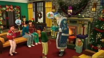 Новый год и Дед Мороз в The Sims 4 Времена года