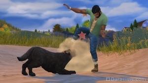 Собака атакует персонажа по команде