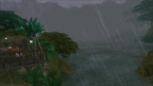 Грозовой ливень в Сельвадораде из The Sims 4 Приключения в джунглях
