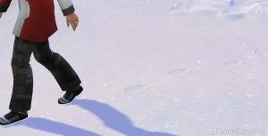 следы ботинок на снегу в симс 4 времена года