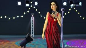 Пение в микрофон на сцене