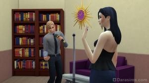 Сим исполняет серенаду девушке