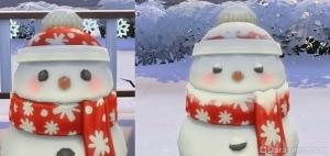 снеговик без снега и снеговик в снегу