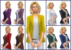 женский пиджак в Симс 4 На работу