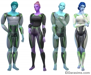взрослые инопланетные скафандры в Симс 4 На работу
