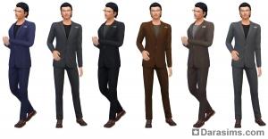 мужской деловой костюм в Симс 4 На работу