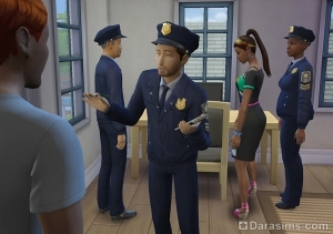 карьера детектива в Симс 4 На работу