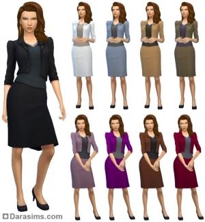 женский деловой костюм в Симс 4 На работу