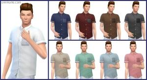 мужская рубашка в Симс 4 На работу
