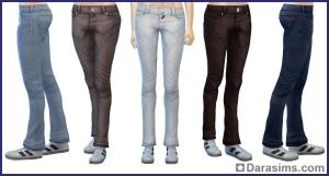 джинсы в Симс 4 На работу