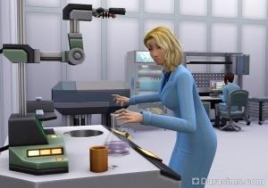 карьера ученого в Симс 4 На работу