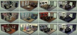 стилизованные комнаты в Симс 4 На работу