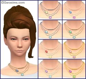 ожерелье в Симс 4 На работу