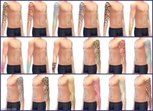 татуировки в Симс 4 На работу