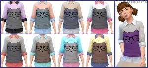 детский свитер в Симс 4 На работу