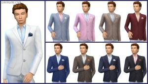 мужской пиджак в Симс 4 На работу