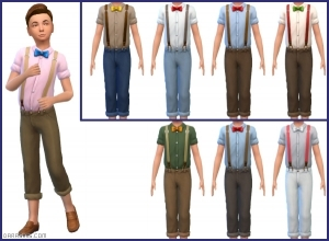 костюм для мальчика в Симс 4 На работу