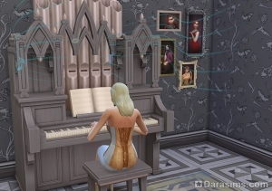 игра на органе в Симс 4 Вампиры