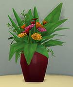 ярко-красная ваза