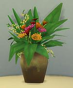 ваза из обожженной глины