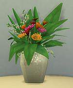 ваза с белыми блестками