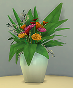 зимняя ваза