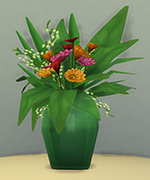 зеленая ваза