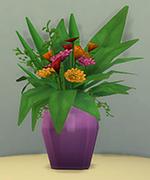 фиолетовая ваза