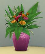 ваза с розовыми блестками