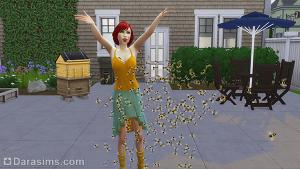 Пчелы и улей в Симс 4 Времена года
